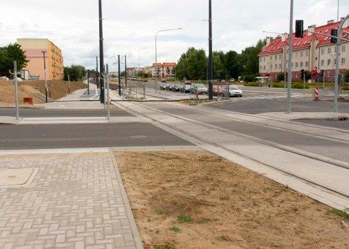 Budowa linii tramwajowej przy ulicy Witosa (12 lipca 2015) - skrzyżowanie z ulicami Janowicza i Laszki
