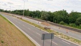 Budowa linii tramwajowej przy ulicy Płoskiego (12 lipca 2015)
