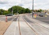 Budowa linii tramwajowej przy alei Sikorskiego (12 lipca 2015) - skrzyżowanie z aleją Obrońców Tobruku