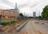 Budowa linii tramwajowej w ulicy Dworcowej (12 lipca 2015)