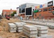 Budowa linii tramwajowej w alei Piłsudskiego (12 lipca 2015)