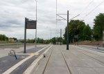 Budowa linii tramwajowej przy ulicy Obiegowej (12 lipca 2015) – przystanek SzpitalWojewódzki