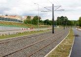 Budowa linii tramwajowej przy ulicy Obiegowej (12 lipca 2015)