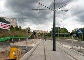 Budowa linii tramwajowej przy ulicy Obiegowej (12 lipca 2015) - przystanek Obiegowa
