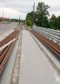 Budowa linii tramwajowej przy ulicy Tuwima (12 lipca 2015) - most nad Łyną
