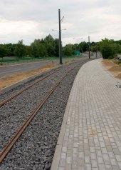 Budowa linii tramwajowej przy ulicy Tuwima (12 lipca 2015)