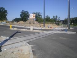 Budowa linii tramwajowej przy ulicy Tuwima (15 sierpnia 2015) - skrzyżowanie z ulicami Nowaka i Wawrzyczka