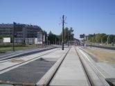 Budowa linii tramwajowej przy ulicy Płoskiego (15 sierpnia 2015) - przystanek Wilczyńskiego