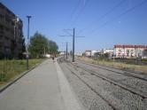 Budowa linii tramwajowej przy ulicy Witosa (15 sierpnia 2015)