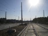 Budowa linii tramwajowej przy ulicy Witosa (15 sierpnia 2015) - przystanek końcowy Kanta