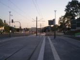 Budowa linii tramwajowej przy ulicy Obiegowej (15 sierpnia 2015) - przystanek Obiegowa