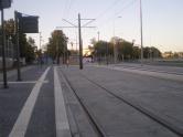 Budowa linii tramwajowej przy ulicy Obiegowej (15 sierpnia 2015) - przystanek Szpital Wojewódzki