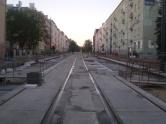 Budowa linii tramwajowej w ulicy Kościuszki (15 sierpnia 2015)