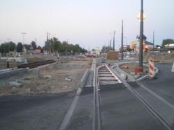 Budowa linii tramwajowej na placu Konstytucji 3 Maja (15 sierpnia 2015)