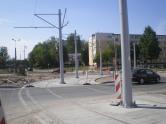 Budowa linii tramwajowej na placu Ofiar Katynia (16 sierpnia 2015)