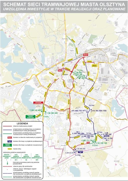 Plany rozbudowy sieci tramwajowej (2015)