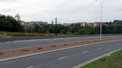 Budowa linii tramwajowej przy ulicy Płoskiego (16 września 2015)