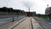 Budowa linii tramwajowej przy ulicy Płoskiego (16 września 2015) - przystanek Wilczyńskiego