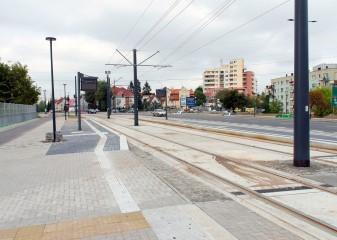 Budowa linii tramwajowej przy alei Sikorskiego (16 września 2015) - przystanek Dywizjonu 303