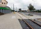 Budowa linii tramwajowej przy ulicy Tuwima (16 września 2015) - przystanek Pozorty