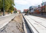 Budowa linii tramwajowej w alei Piłsudskiego (20 września 2015)
