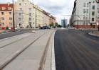 Budowa linii tramwajowej w ulicy Kościuszki (20 września 2015)