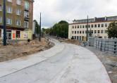 Budowa linii tramwajowej na skrzyżowaniu ulic Kościuszki i Żołnierskiej (20 września 2015)