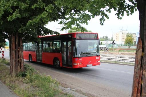 Volvo B7L V7000 na ulicy Towarowej