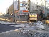 Budowa linii tramwajowej na placu Jana Pawła II (31 sierpnia 2015)