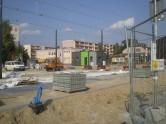 Budowa linii tramwajowej przy ulicy Witosa (1 września 2015) - przystanek końcowy Kanta