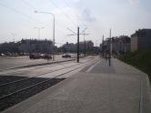 Budowa linii tramwajowej przy ulicy Witosa (1 września 2015) - przystanek Witosa