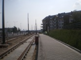 Budowa linii tramwajowej przy ulicy Witosa (1 września 2015)