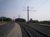 Budowa linii tramwajowej przy ulicy Płoskiego (1 września 2015)