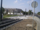 Budowa linii tramwajowej przy ulicy Płoskiego (1 września 2015) - przystanek Wilczyńskiego