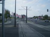 Budowa linii tramwajowej przy alei Sikorskiego (1 września 2015)