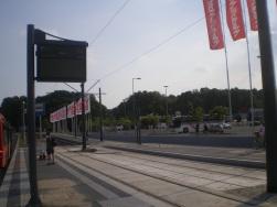 Budowa linii tramwajowej przy alei Sikorskiego (1 września 2015) - przystanek Real