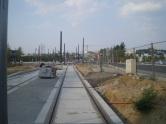 Budowa linii tramwajowej przy alei Sikorskiego (1 września 2015) - przystanek Galeria Warmińska