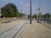 Budowa linii tramwajowej przy ulicy Tuwima (1 września 2015) - przystanek Uniwersytet-Pływalnia