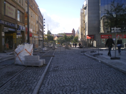Budowa linii tramwajowej w ulicy 11 Listopada (21 września 2015)