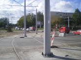Budowa linii tramwajowej na placu Ofiar Katynia (21 września 2015)
