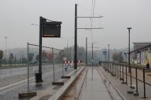 Budowa linii tramwajowej przy ulicy Tuwima (18 października 2015) - przystanek Uniwersytet-Pływalnia