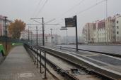 Budowa linii tramwajowej przy ulicy Witosa (18 października 2015) - przystanek Płoskiego
