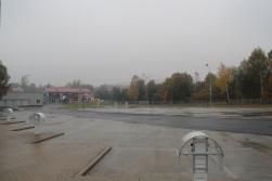 Zajezdnia autobusowa przy alei Sikorskiego (18 października 2015)