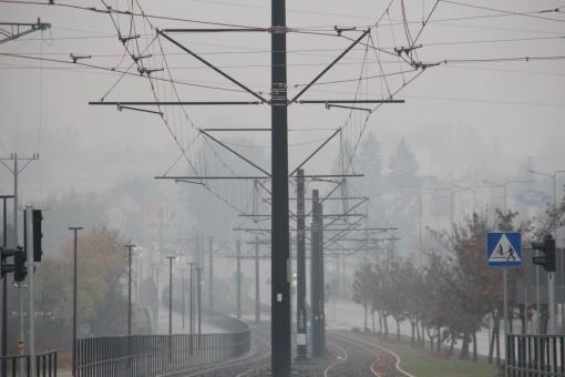 Budowa linii tramwajowej przy alei Sikorskiego (18 października 2015)
