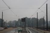 Budowa linii tramwajowej przy ulicy Tuwima (18 października 2015) - przystanek Galeria Warmińska