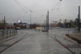 Budowa linii tramwajowej na skrzyżowaniu alei Sikorskiego z ulicami Tuwima i Synów Pułku (18 października 2015)
