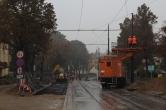 Budowa linii tramwajowej w ulicy Żołnierskiej (18 października 2015)