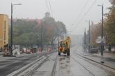 Budowa linii tramwajowej w ulicy Kościuszki (18 października 2015)