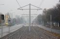Budowa linii tramwajowej w ulicy Towarowej (18 października 2015)