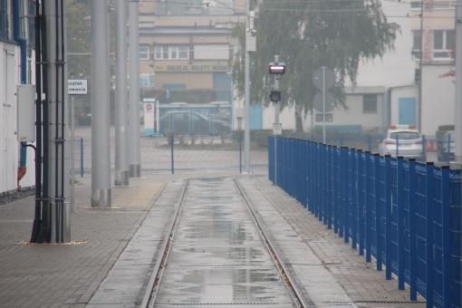 Tor testowy w zajezdni tramwajowej przy ulicy Towarowej (18 października 2015)